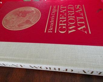 vintage Reader's Digest Great WORLD ATLAS- 1963