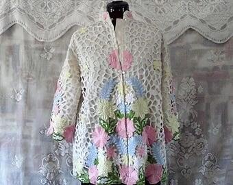 Floral embellished Lace Jacket