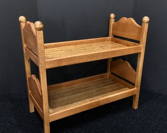 American Girl Doll: Furniture Bunk Bed Oak Stained