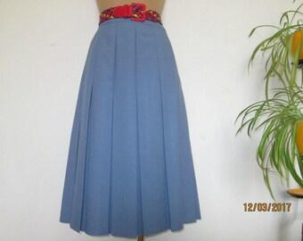 Pleated Skirt / Pleated Skirts / Skirt Vintage / Blue Gray Skirt / Accordion Skirt / Skirt Size EUR42 / UK14