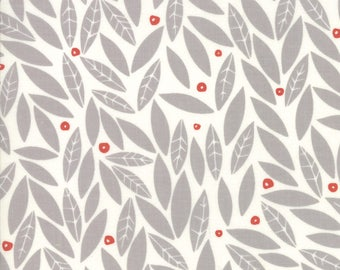 Merrily Winter Holly in Chill Grey,  Gingiber, 100% Cotton, Moda Fabrics, 48212 15