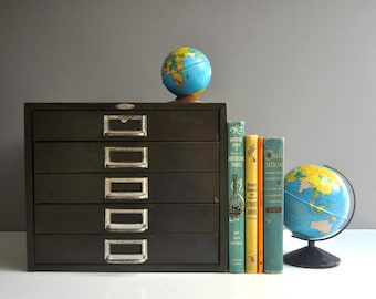 Vintage Cole Steel Metal File Cabinet or Parts Cabinet