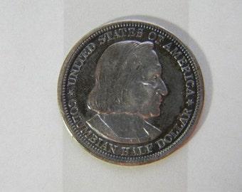 COIN, 1893, US, World's Columbian Exposition Chicago, Commemorative  Silver Half Dollar