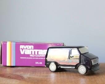 Vintage 1970's Avon Vantastic Van Wild Country Aftershave Bottle and Box