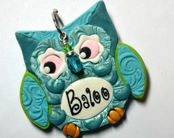 New!!!    Pudgy Owlet Pet Tag / Dog Tag