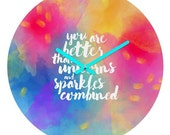 Unique wall clock You Are Better Than Unicorns and Sparkles, unicorn rainbow dorm wall clock graduation gift, apartment housewarming gift
