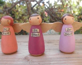 MINI PEG DOLL Message Angel-Be Brave-Home Decor-Playscape Toy