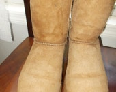UGG Women's Boots Size 9 Chestnut with Box Vintage