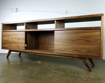 "The ""SpaceDust"" is a mid century modern, danish modern TV console, TV stand, credenza,"