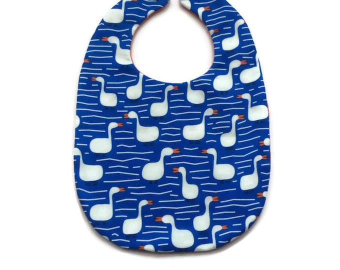 Unisex Baby Bib - Geese Bib - Baby Shower Gift - New Baby Gift Under 15