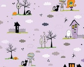 """WHOLESALE FABRIC LOT,6 Yards and 23"""" x 44"""" Wide,Too Cute to Spook Lavender for Riley Blake,Children's Fabric,Halloween Fabric,100% Cotton"""
