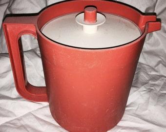 Vintage Burnt Orange Tupperware Juice Pitcher