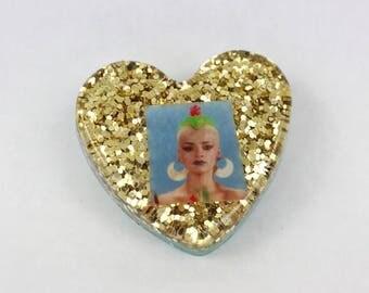 Nina Hagen Heart Shaped Brooch Pin