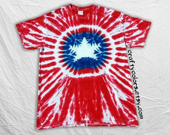 Tie Dye inspired by Captain America Super Hero T Shirt Child Size