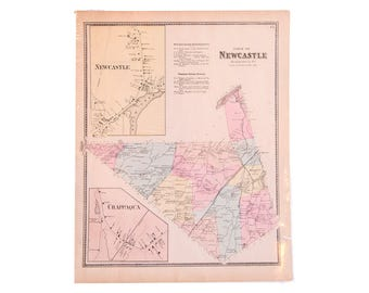 Antique Map of North Castle and Chappaqua NY