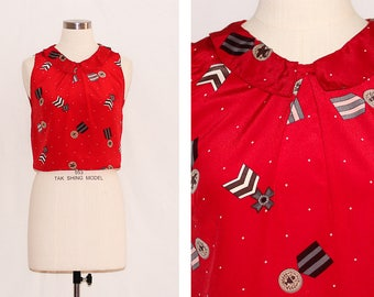 vic & lily x I'm a Norbyah Handmade Cropped Printed Blouse