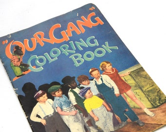 "Our Gang, Little Rascals, Coloring Book, Circus, 1933, Unused, 15"", Movie scenes of Our Gang, Hal Roach Studios, movie and film ephemera"