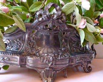 Napoleon III French Antique Planter French Jardiniere Metal Planter Romantic Shabby chic