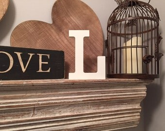 Hand-painted Wooden Letter L - Freestanding - Rockwell Font - Various sizes, finishes and colours