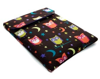 REDUCED in SALE Ipad Mini Case Night Owls, Padded Tablet Cover, Fabric Gadget Sleeve, UK Seller only
