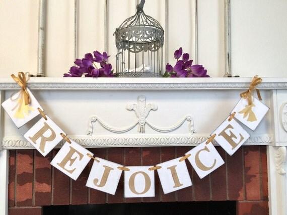Easter Decorations Rejoice Banner Christian Decor