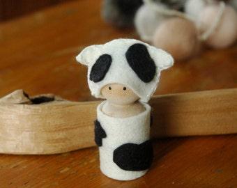 Cow peg doll
