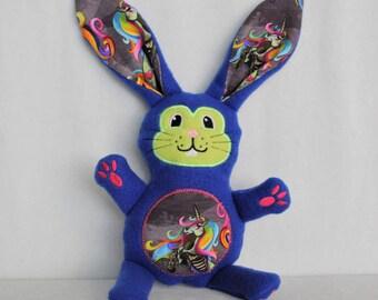 Rainbow Zombie Unicorn - Bunnies In Disguise - Easter Stuffed Animal Bunny Gift - Customizable