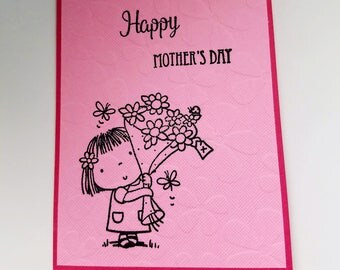 Mother's Day Card, handmade, for mom, mother, mother-in-law, mother's day wishes, flowers