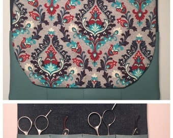 Double Sided Scissor Clutch - Securely Holds 8 Pairs of Shears or Razors