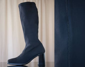 chunky neoprene boots - 7.5 women
