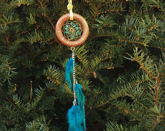 small dream catcher turquoise