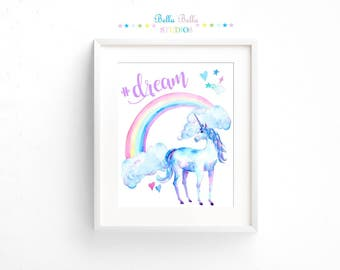 Unicorn  #Dream Print 8x10 ~ Printable Download