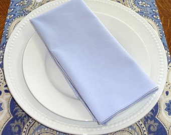 SALE Light Pale Lavender Napkin Table Decor Dining Room Size 16x16 17x17 Napkins
