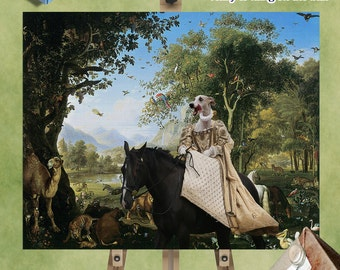 Whippet - Art - CANVAS - Print - Fine Artwork - Dog Portrait -  Dog Painting - Dog Art - Dog Print – Custom Dog Art By Nobility Dogs
