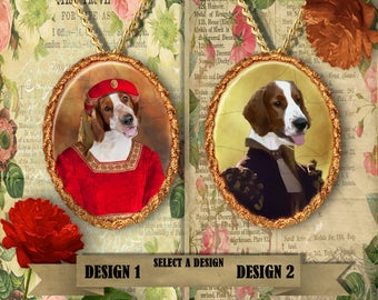 Welsh Springer Spaniel Jewelry.Welsh Springer Spaniel Pendant or Brooch.Welsh Springer Spaniel Necklace.Custom Dog Jewelry by Nobility Dogs.