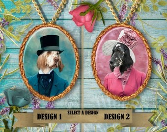 English Setter Jewelry. Setter Pendant or Brooch. Setter Necklace. Setter Portrait. Custom Dog Jewelry by Nobility Dogs.Dog Handmade Jewelry