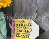teacher pencil sign| teacher gift| gift for teacher| thank you teacher| end of school year| teacher sign| pencil sign| educator gift|