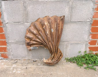 Unique Garden Decor Faux Sea Shell Ocean Lakehouse Industrial Wall Hanging  Mixed Media Supply Artist Gift
