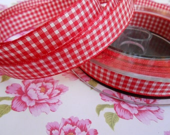 "Ribbon Gingham Red 5 Yards 5/8""width"
