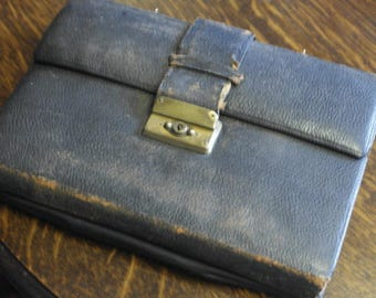 antique leather writing case