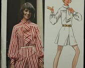 60off Sale RARE Butterick 5600 Young Designer Australia Norma Tullo 1970s 70s Jumpsuit Pantdress  Vintage Sewing Pattern Size 11 Bust 33.5
