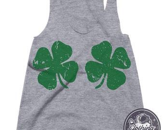 St Patricks Day Tank Shamrock Shirt Lucky Charm Funny Tshirts Womens Graphic Tees St Pattys Day Shirt Workout Tank Top Womens March Shirt