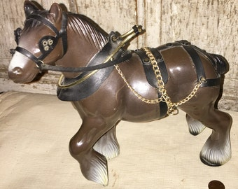 plastic Clydesdale horse