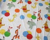 Vintage Winnie the Pooh Twin Size Flat Sheet for Sewing, Crafts, Nursery Decor Project, Winnie the Pooh Sheet, Disney Sheet, Made in USA