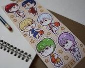 SALE kuroko no basket sticker sheet