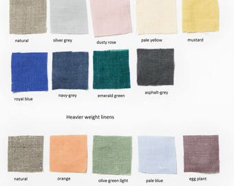 Fabric samples of Medium and Heavier weight