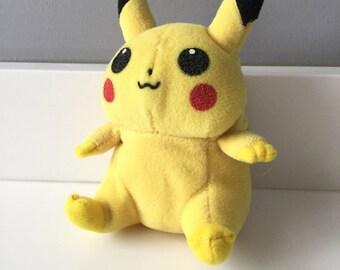 Rare Pokemon Plush Toy - Vintage Pikachu Plush Toy - Original 1990s Pokemon Toy - First Generation Pokemon Anime Video Game