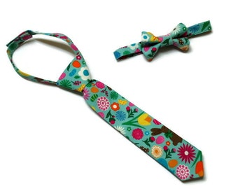 Boys Easter Necktie or Bowtie Chocolate Bunny Baby Chick Peeps Baby Infant Toddler Neck tie Photo Prop