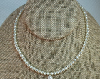 "Childs 5mm Pearl 14"" Necklace"