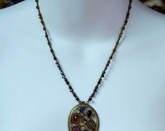 Handcrafted Sorelli Crystal Rhinestone Necklace and Pendant